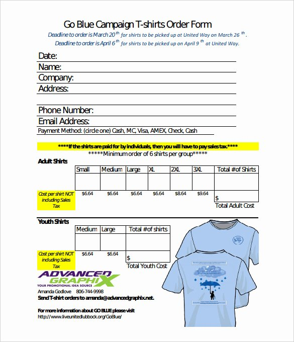 Online order form Template Luxury 26 T Shirt order form Templates Pdf Doc