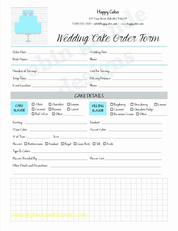 Online order form Template Luxury 97 Wedding Flower order form Template New Wedding Cake