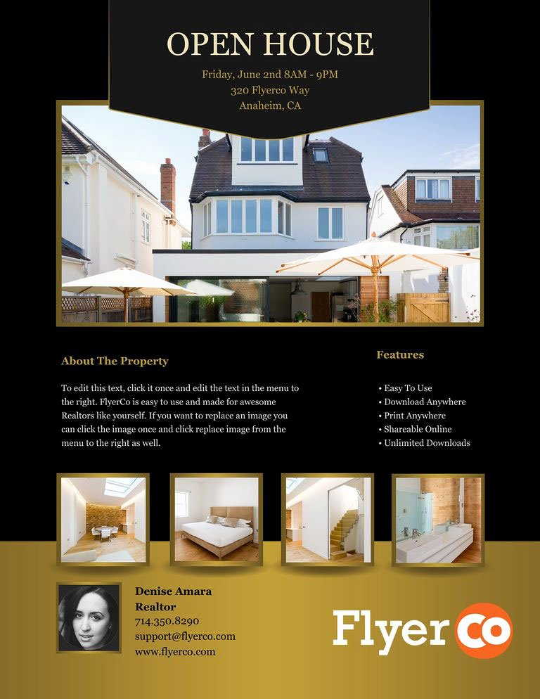Open House Brochure Template Awesome Design Winning Open House Flyers that Close Sales Real