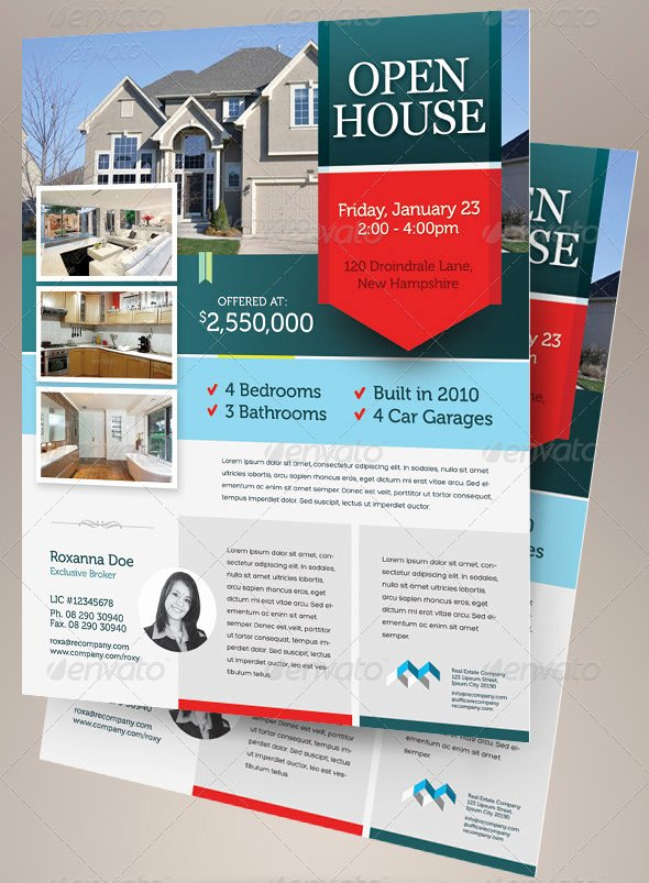 Open House Brochure Template Awesome Open House Flyer Templates – 39 Free Psd format Download