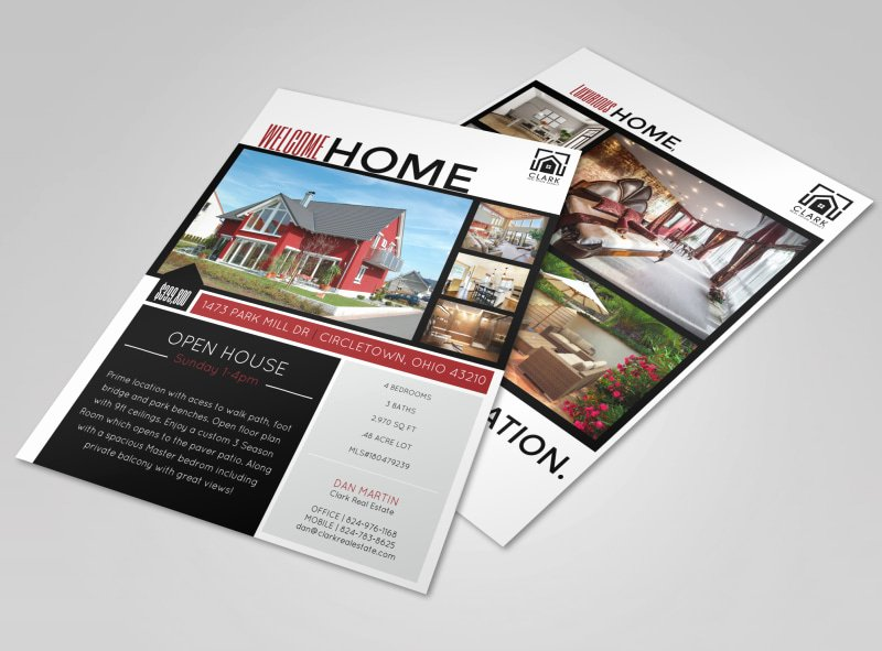 Open House Brochure Template Awesome Wel E Home Open House Flyer Template