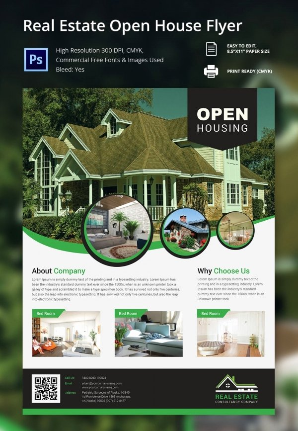 Open House Brochure Template Beautiful 67 Business Flyer Templates – Free Psd Illustrator