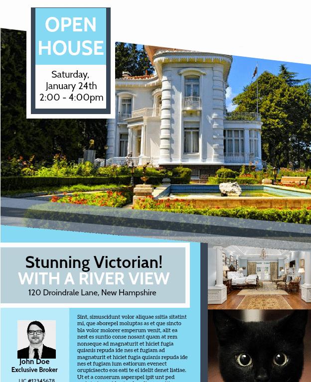 Open House Brochure Template Beautiful Free Open House Flyer Template – Downloadable