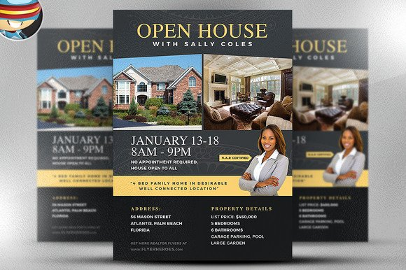 Open House Brochure Template Beautiful Open House Flyer Template 2 Flyer Templates On Creative
