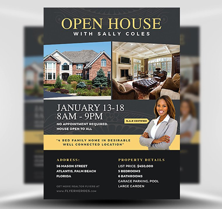 Open House Brochure Template Beautiful Open House Flyer Template 2 Flyerheroes