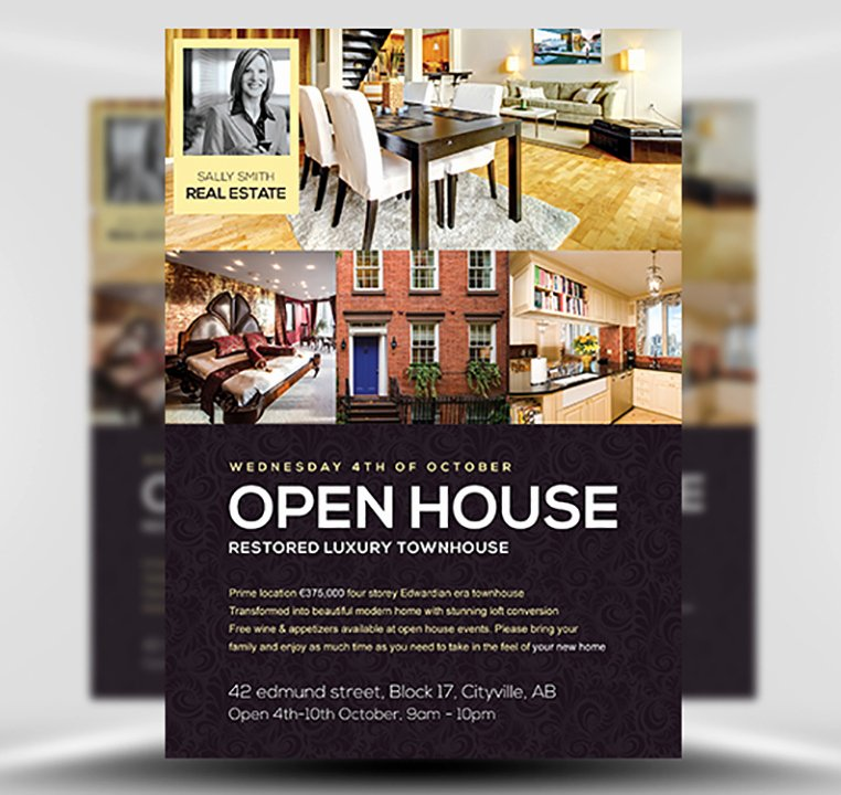 Open House Brochure Template Beautiful Open House Flyer Template Flyerheroes