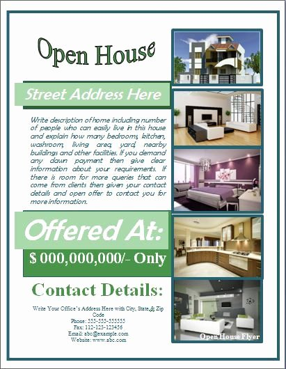 Open House Brochure Template Beautiful Open House Flyer Template Free for Mortgage Open House