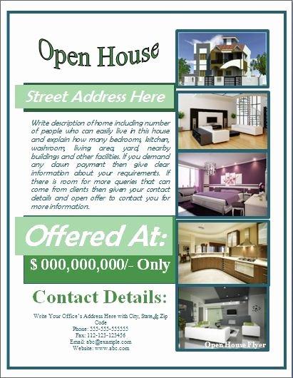 Open House Brochure Template Beautiful Open House Flyer Template Free for Mortgage Open House