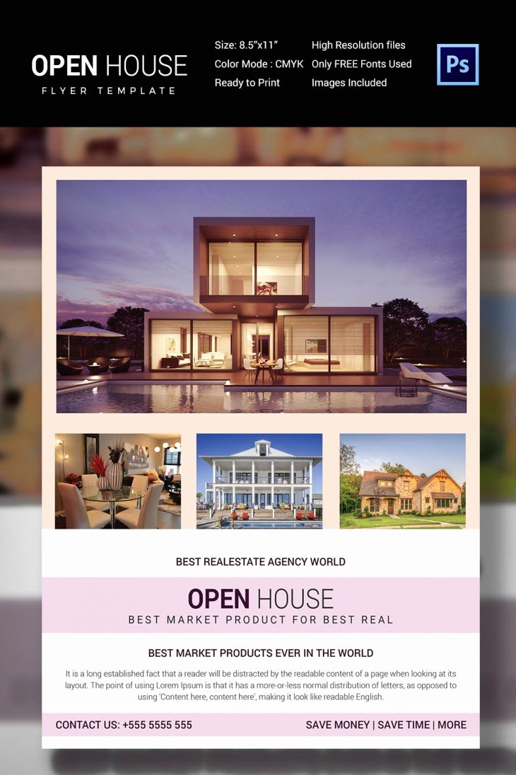 Open House Brochure Template Best Of 27 Open House Flyer Templates Printable Psd Ai Vector