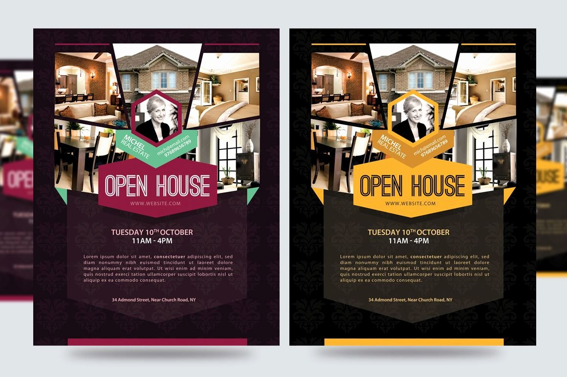 Open House Brochure Template Best Of Open House for New Building Flyer Google Search