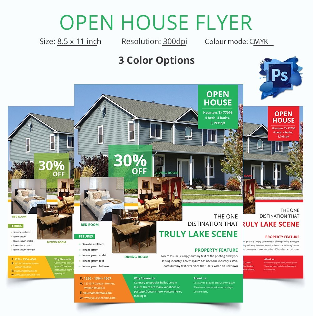 Open House Brochure Template Elegant Open House Flyer Template – 30 Free Psd format Download