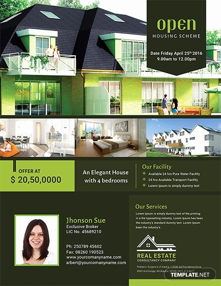 Open House Brochure Template Fresh Free Printable Open House Flyer Template Download 675