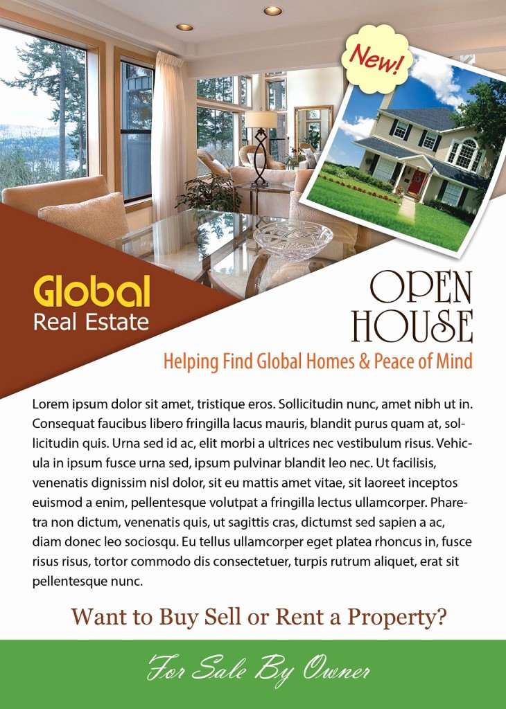 Open House Brochure Template Fresh Open House Flyer Template Shop Version Free Flyer