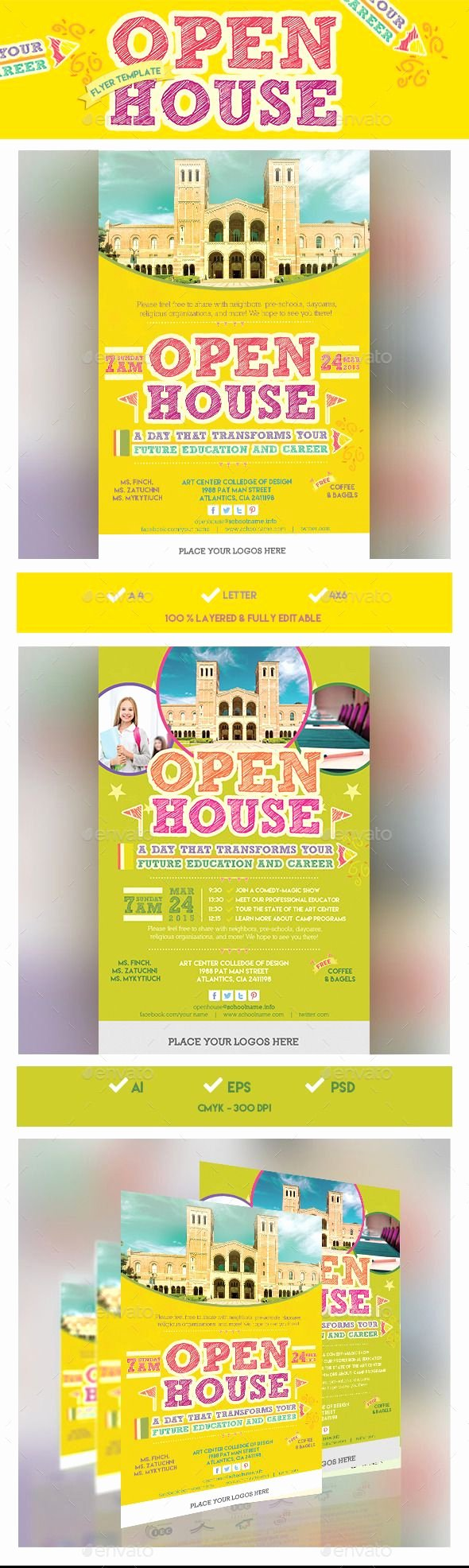 Open House Brochure Template Inspirational 1000 Ideas About Open House Invitation On Pinterest