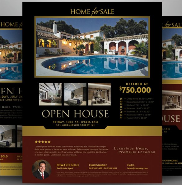 Open House Brochure Template Inspirational 19 Open House Flyers