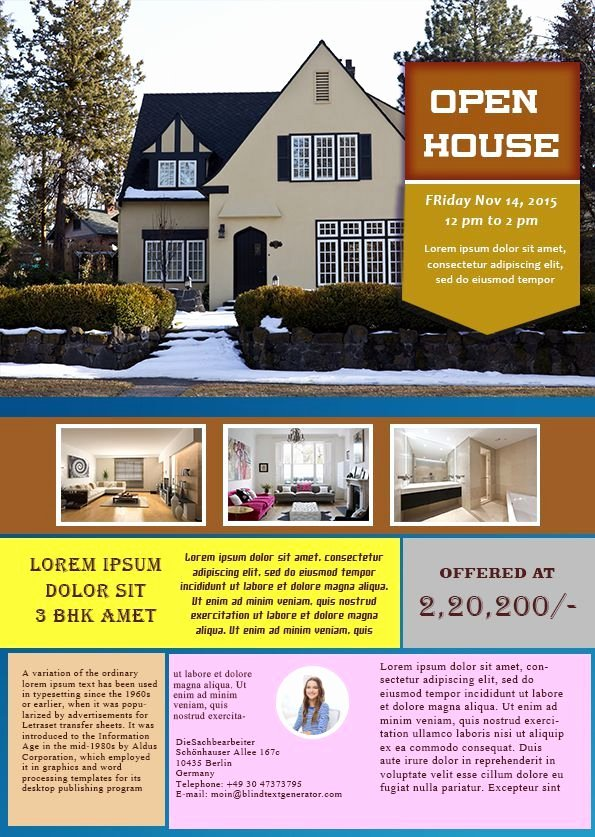 Open House Brochure Template Inspirational 34 Best Images About Open House Flyer Ideas On Pinterest
