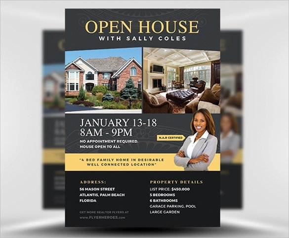 Open House Brochure Template Lovely 19 Open House Flyers