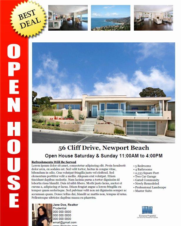 Open House Brochure Template Lovely Bill Sale form Pdf