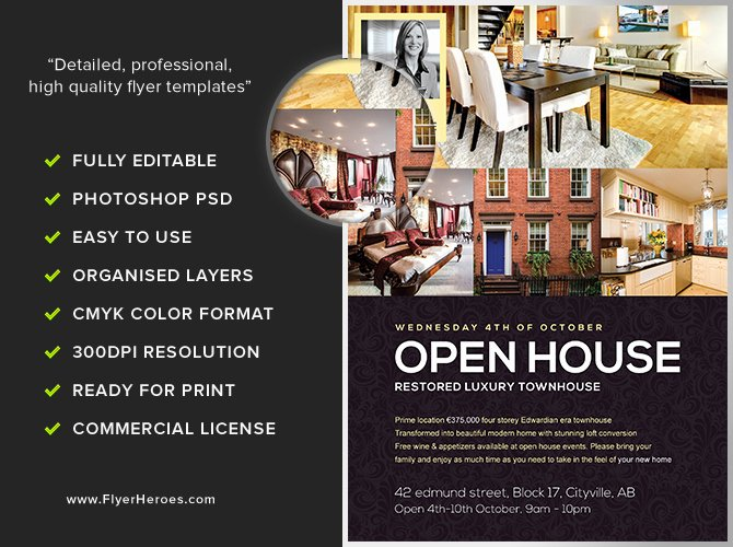 Open House Brochure Template Lovely Open House Flyer Template Flyerheroes