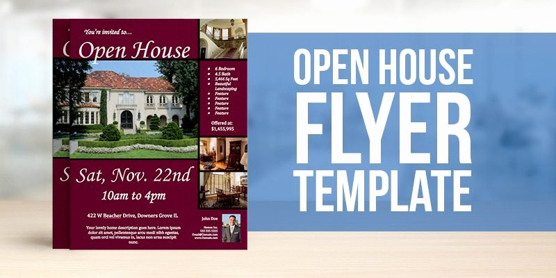 Open House Brochure Template Luxury Free Open House Flyer Template – to View & Download