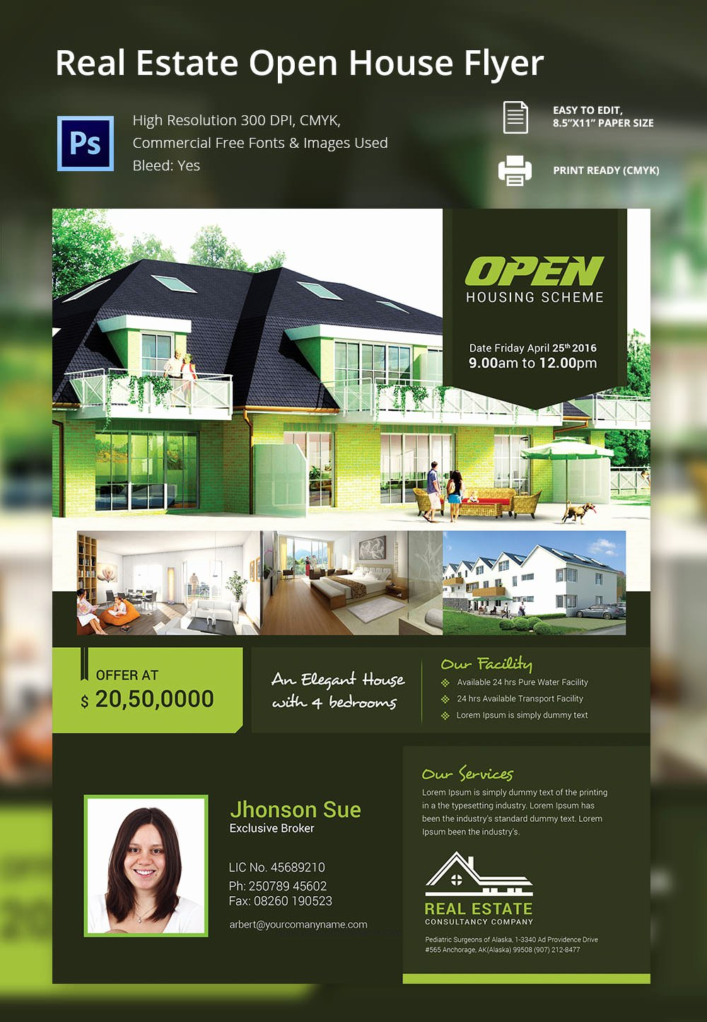 Open House Brochure Template Luxury Open House Flyer Free Psd format Download Brochure