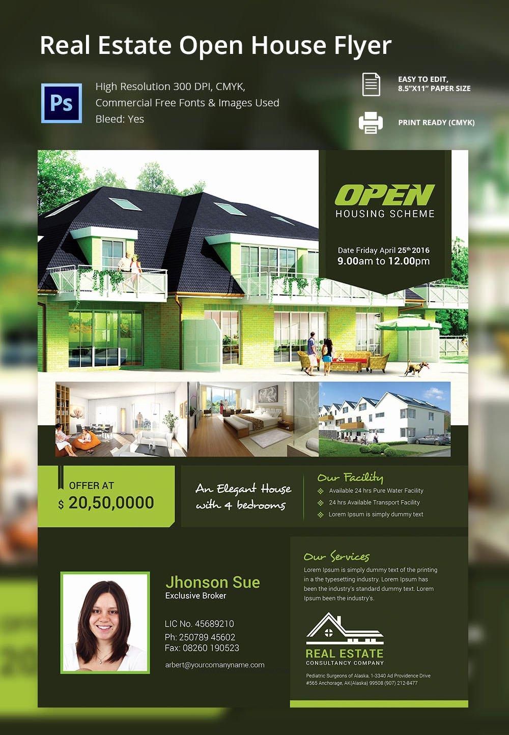 Open House Brochure Template Luxury Open House Flyer Free Psd format Download Brochure