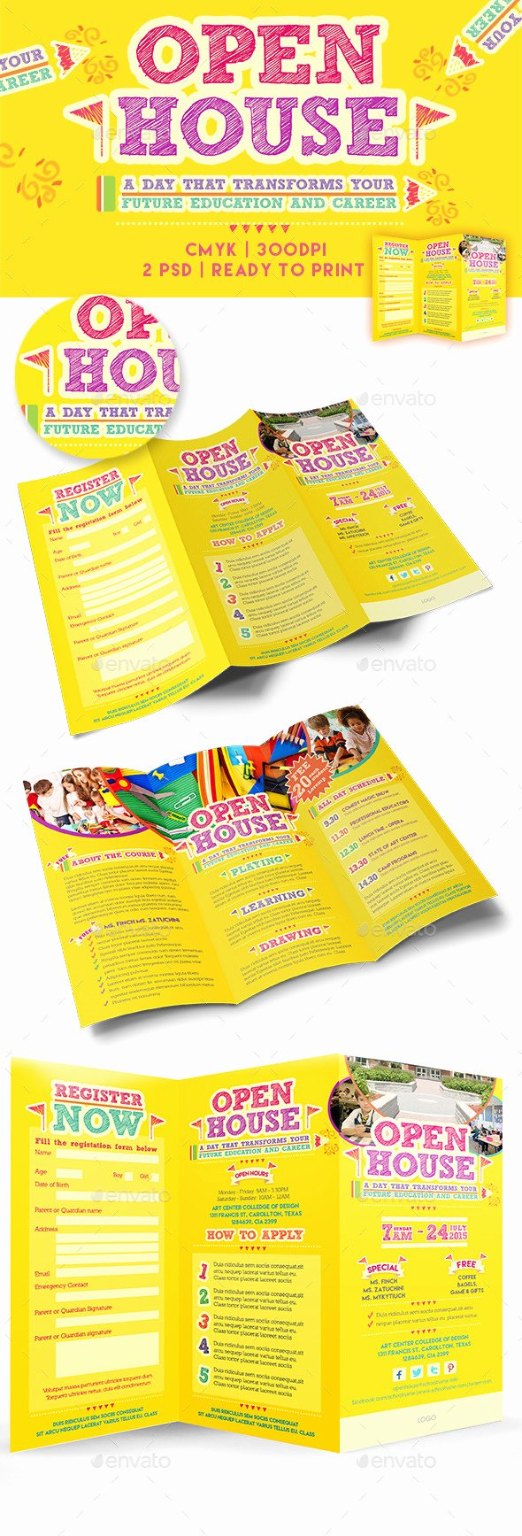 Open House Brochure Template Luxury Open House Trifold Brochure Template by Emty