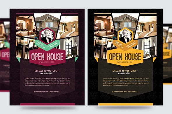Open House Brochure Template New Open House Flyer Templates – 39 Free Psd format Download