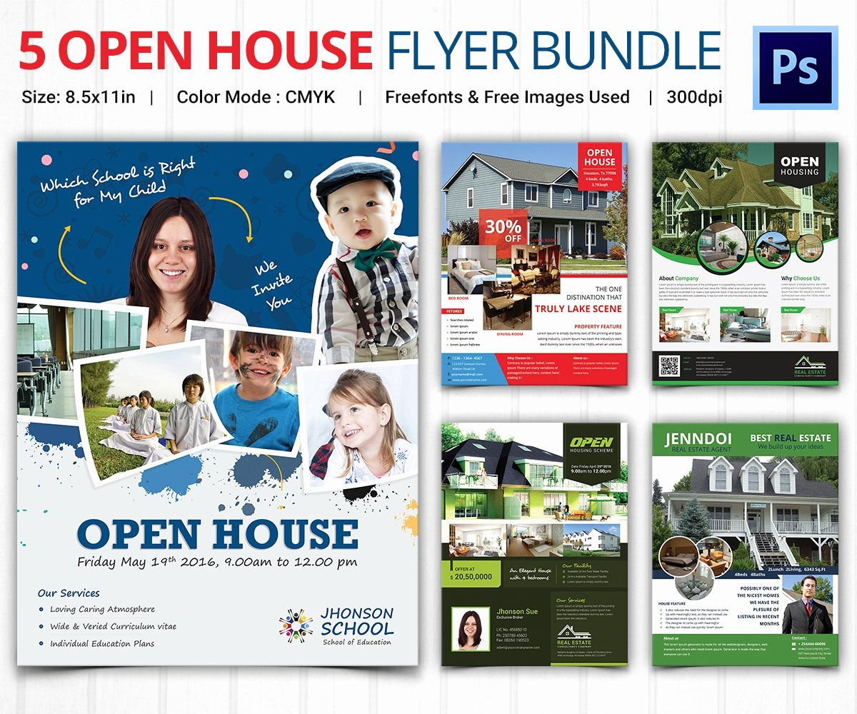 Open House Brochure Template Unique Open House Flyer Template – 30 Free Psd format Download