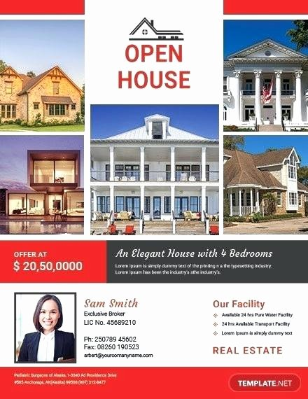Open House Flyer Template Publisher Awesome Free Broker Open House Flyer Template Download Flyers In