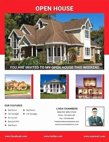 Open House Flyer Template Publisher Awesome Free Open House Flyer Template Download for Real Estate