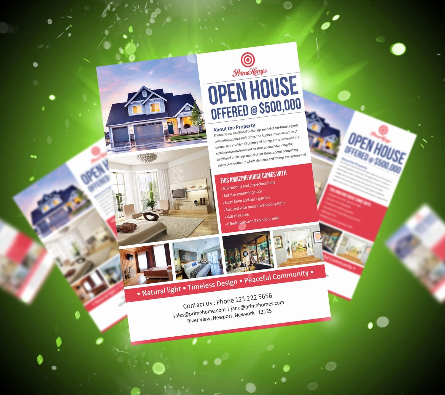 Open House Flyer Template Publisher Awesome Real Estate Advertising Flyer Open House Template Editable