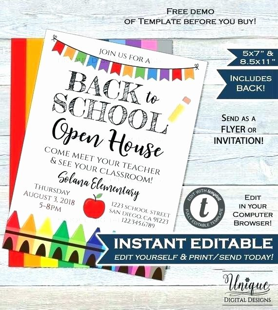 Open House Flyer Template Publisher Awesome School Open House Flyer Template Free Reunion Poster