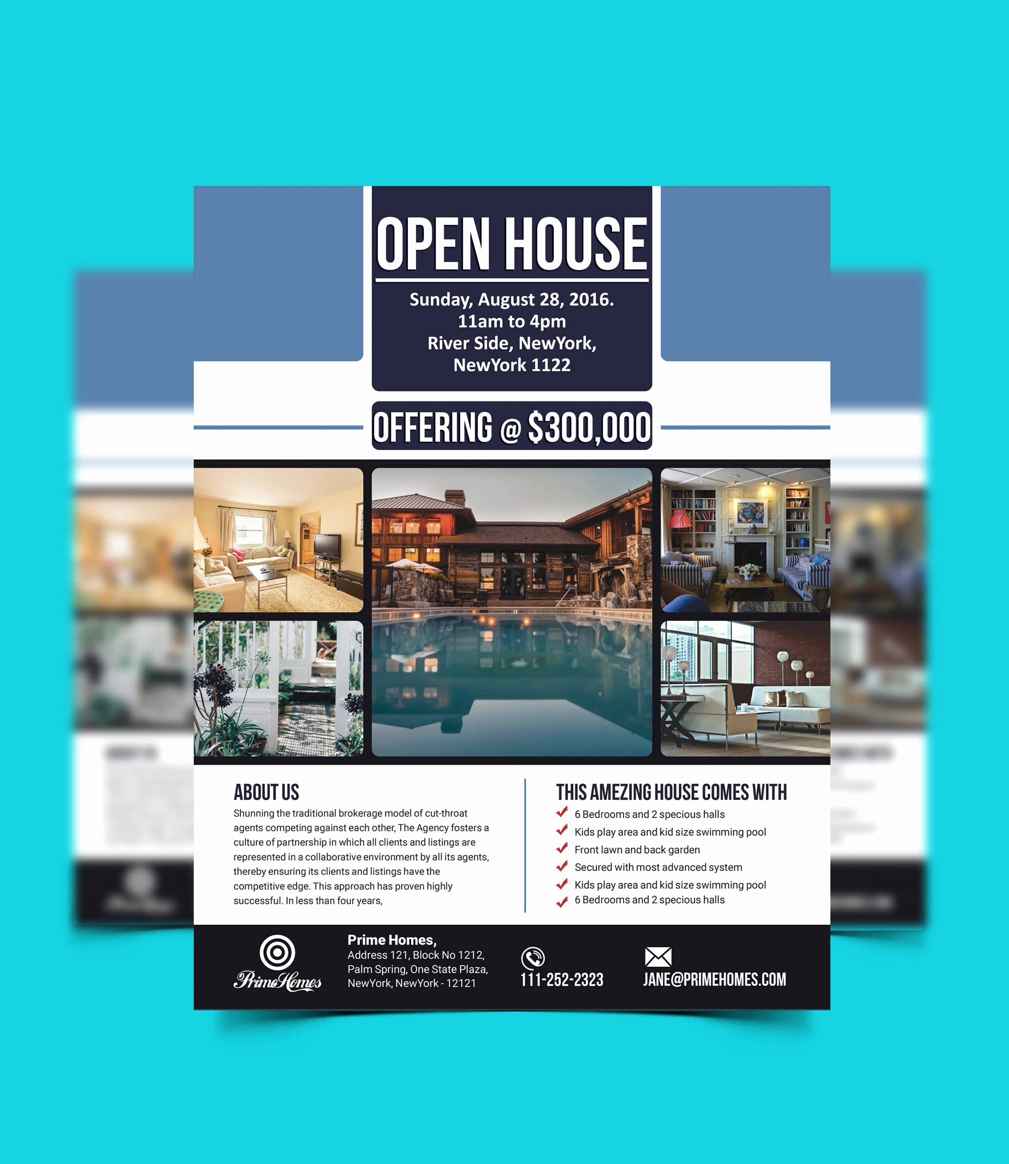 Open House Flyer Template Publisher Best Of Real Estate Advertising Flyer Open House Template Editable