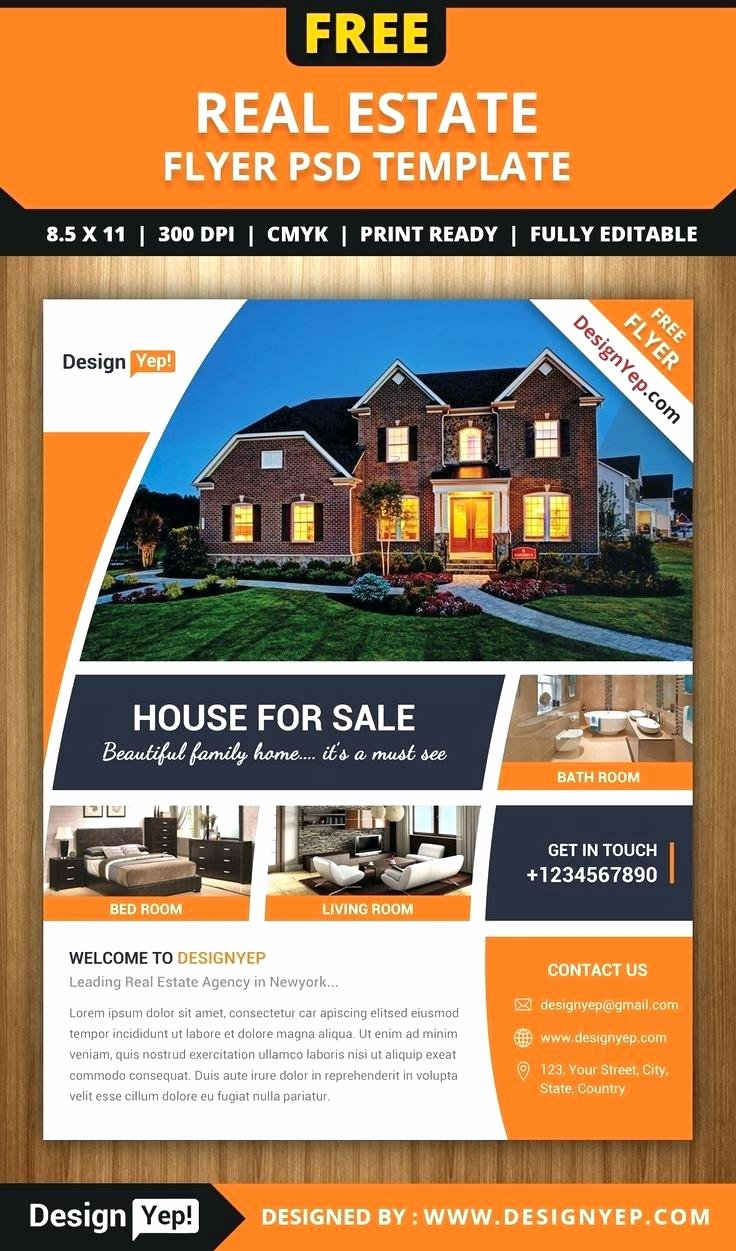 Open House Flyer Template Publisher Best Of Real Estate Open House Flyer Template Home Flyer Template