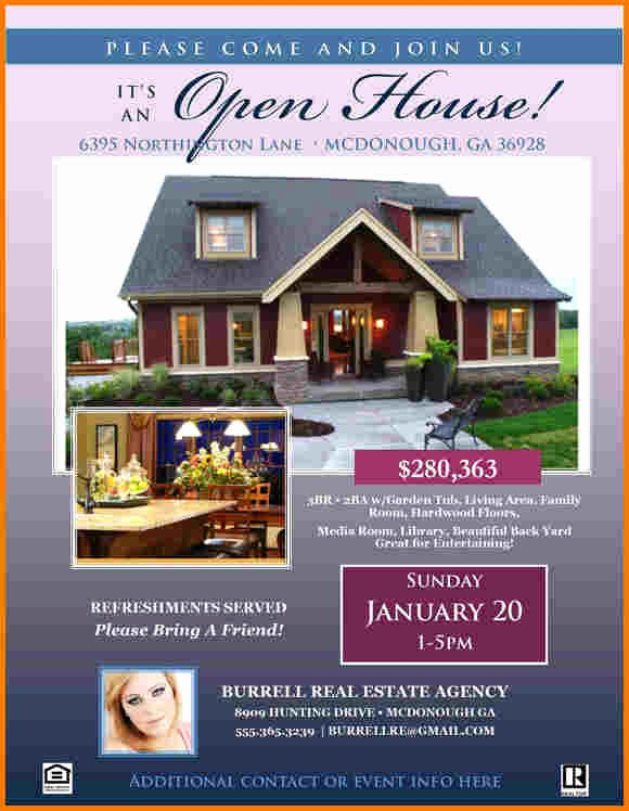Open House Flyer Template Publisher Elegant Open House Flyer Template