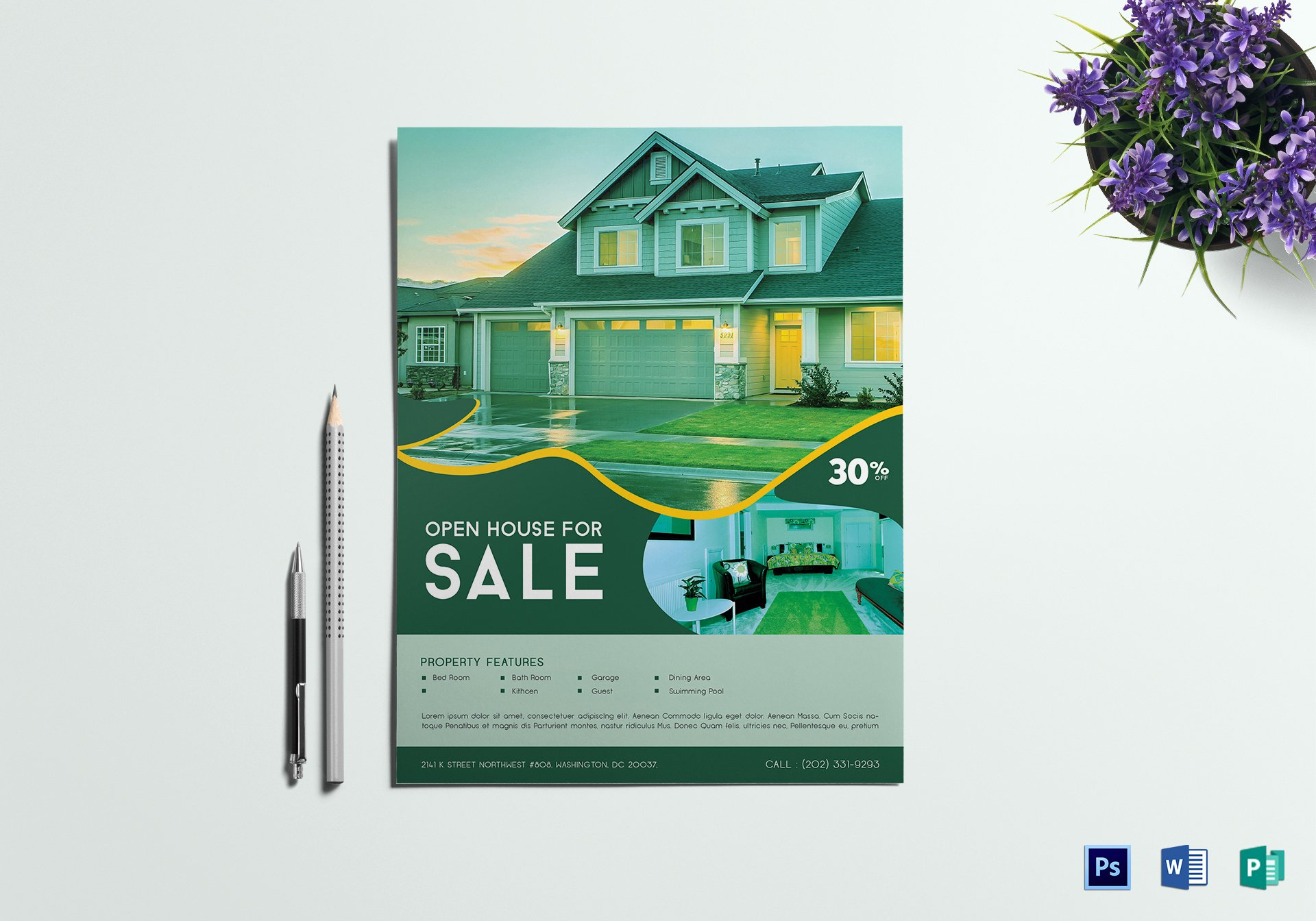 Open House Flyer Template Publisher Elegant Open House Sale Flyer Design Template In Word Psd Publisher