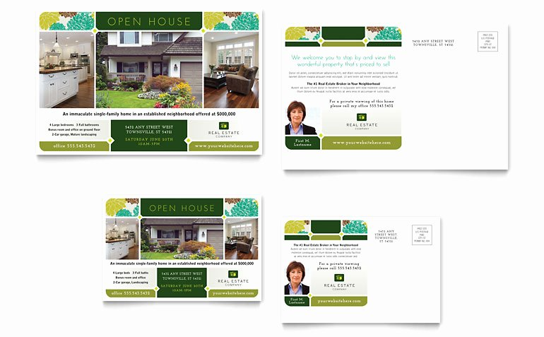 Open House Flyer Template Publisher Elegant Real Estate Postcard Template Word & Publisher