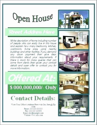 Open House Flyer Template Publisher Fresh Real Estate Open House Invitation Template Flyer Free for