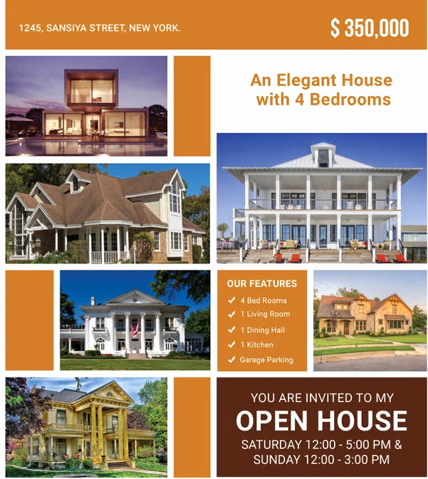 Open House Flyer Template Publisher Inspirational 15 Best Free Open House Flyer Templates