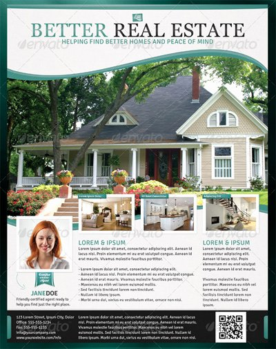 Open House Flyer Template Publisher Lovely Better Real Estate Flyer Template Design Bookmarks and