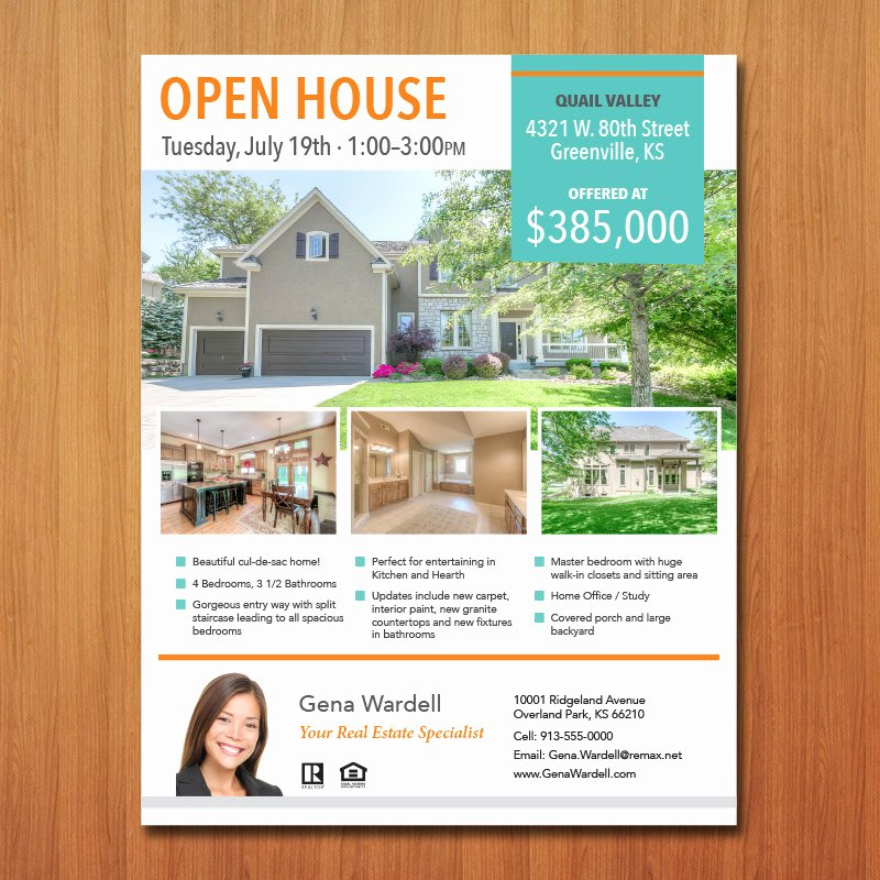 Open House Flyer Template Publisher Luxury Real Estate Flyer Template Microsoft Publisher Word Apple