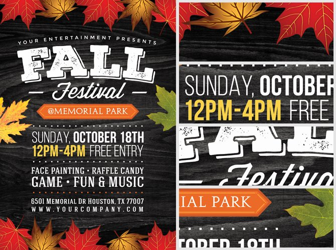 Open House Flyer Template Publisher Unique Fall Festival Flyer Templ and Open House Flyers Psd Vector