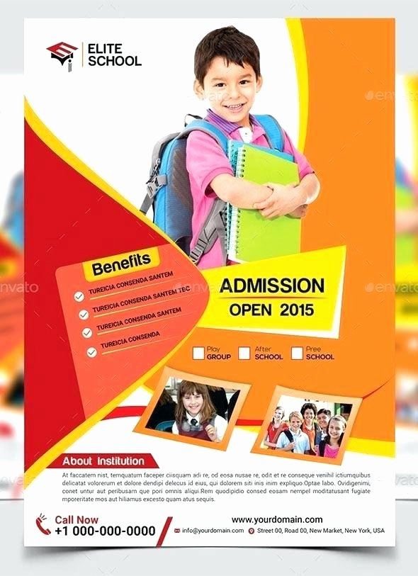 Open House Flyer Template Publisher Unique Free St Day Flyer Template High School Open House