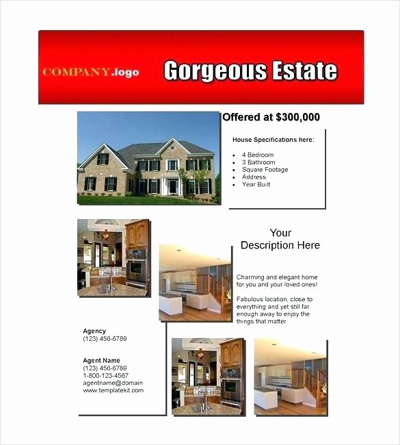 Open House Flyer Template Publisher Unique Microsoft Publisher Real Estate Flyer Templates Template