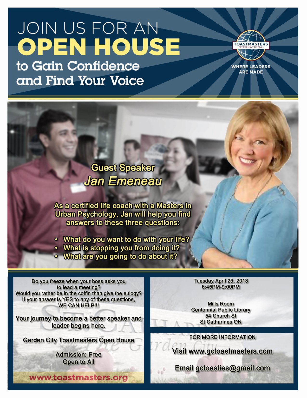 Open House Flyer Template Word Awesome Garden City toastmasters – Open House – Tuesday April 23