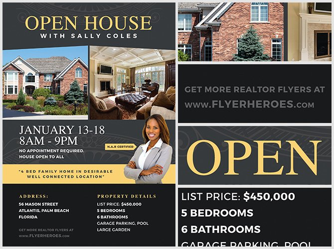 Open House Flyer Template Word Awesome Open House Flyer Template 2 Flyerheroes