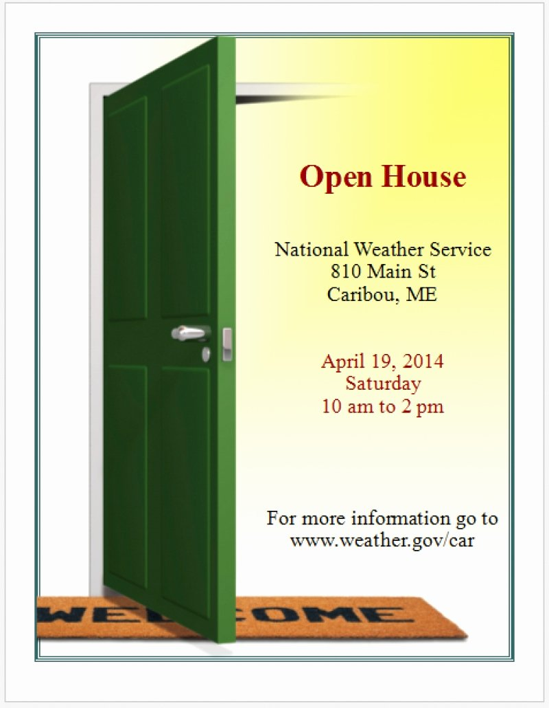 Open House Flyer Template Word Best Of Flyer Templates Free Word Microsoft Border and Fice