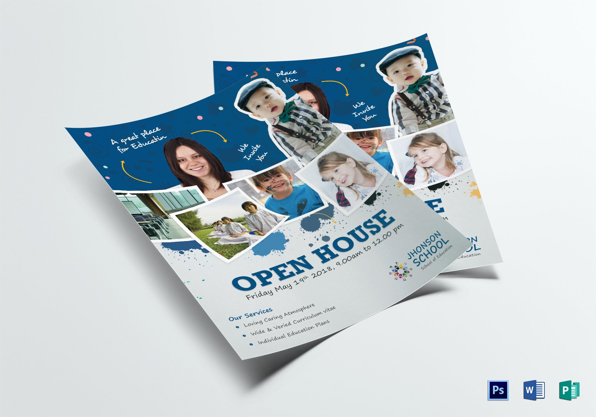 Open House Flyer Template Word Elegant Kids Open House Flyer Design Template In Psd Word Publisher