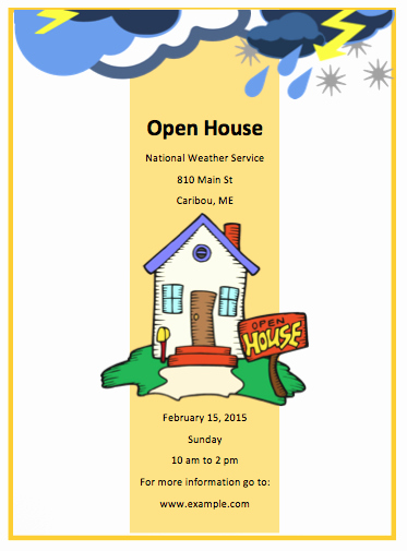 Open House Flyer Template Word Elegant Open House Flyer Template Free Flyer Templates